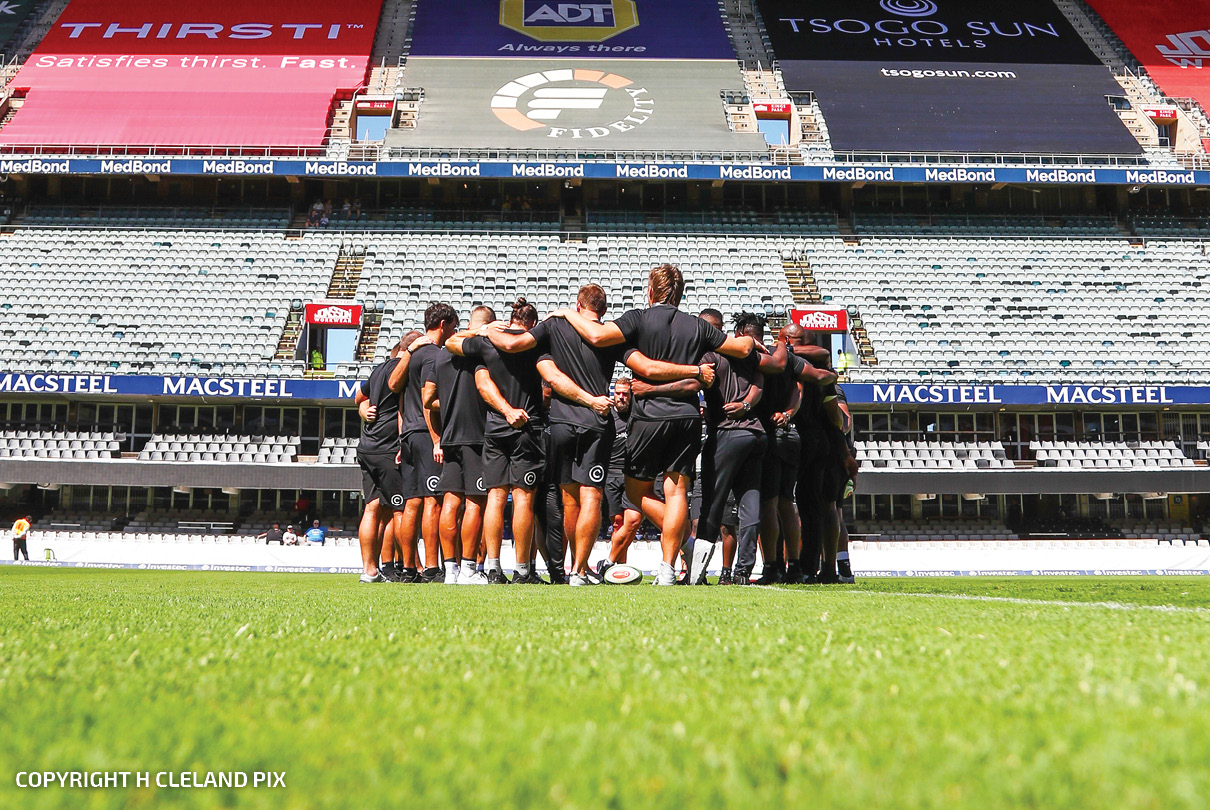 Cell C Sharks Team Huddle